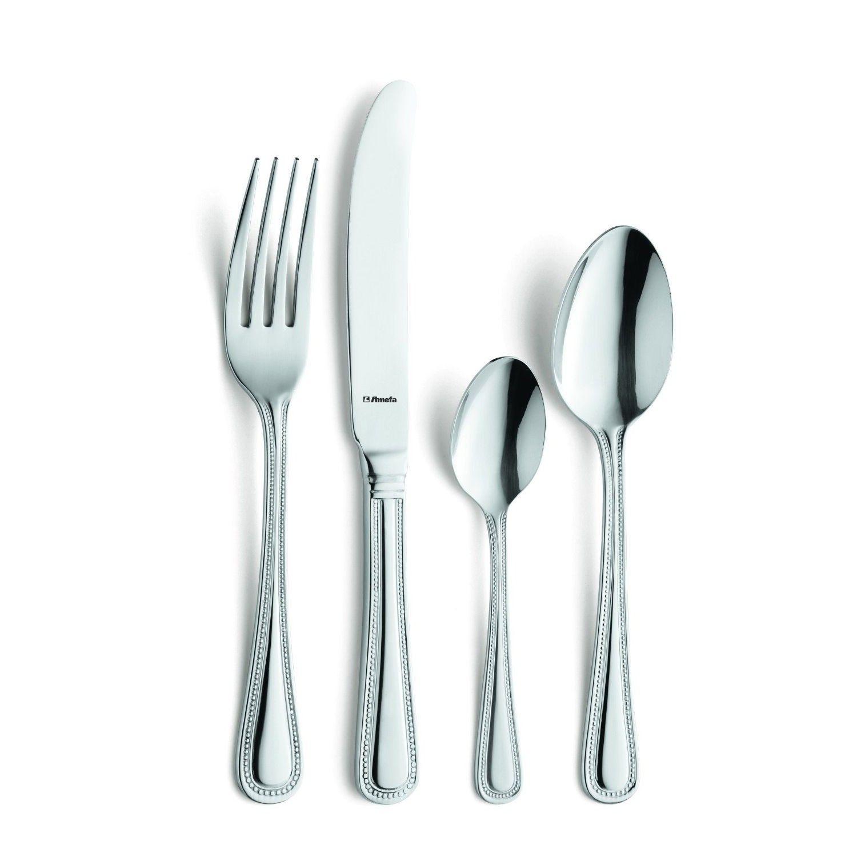 Premium Stainless Steel Amefa Vintage Bead 24 Piece Cutlery Set