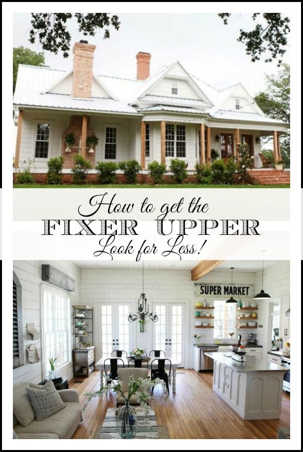 This post breaks down great {affordable} sources for the decor you see in Fixer Upper! Room by room including paint color recommendations! #fixerupper