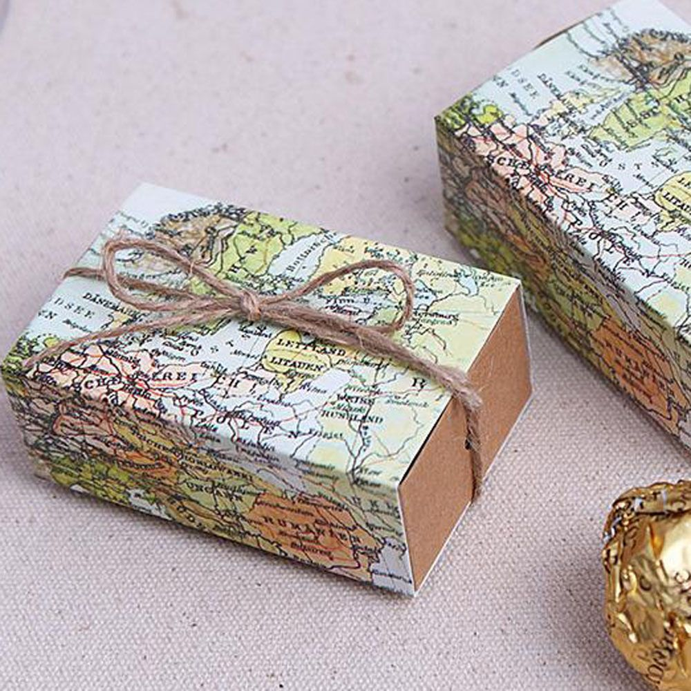10pcs craft paper world map drawers wedding favors party candy gift 10pcs craft paper world map drawers wedding favors party candy gift boxes bags unbranded gumiabroncs Gallery