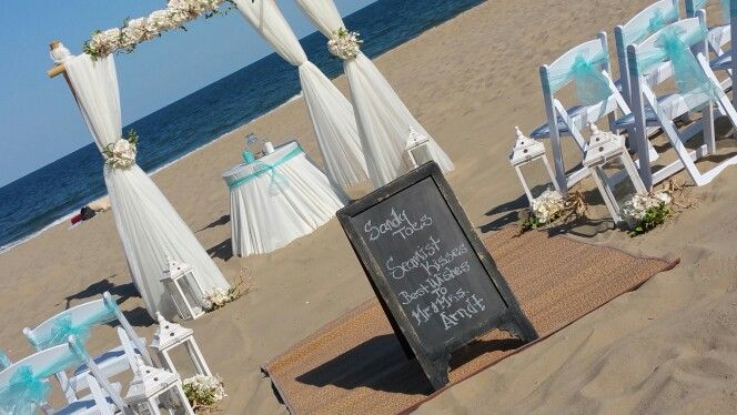 Tropical Beach Wedding Ocean City Md Barefootbeachbride