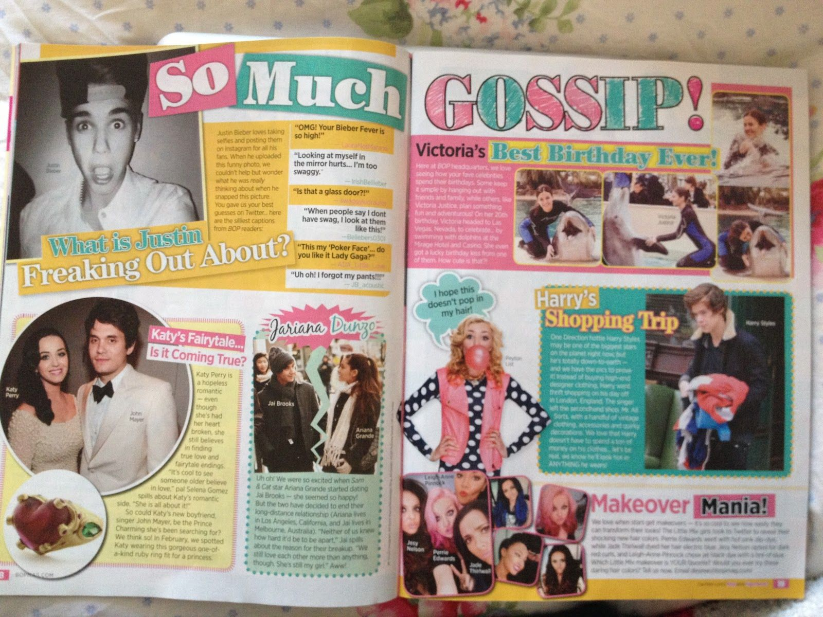 How to scrapbook magazine articles - Good Use Of Different Typefaces Use Of Girly Colours