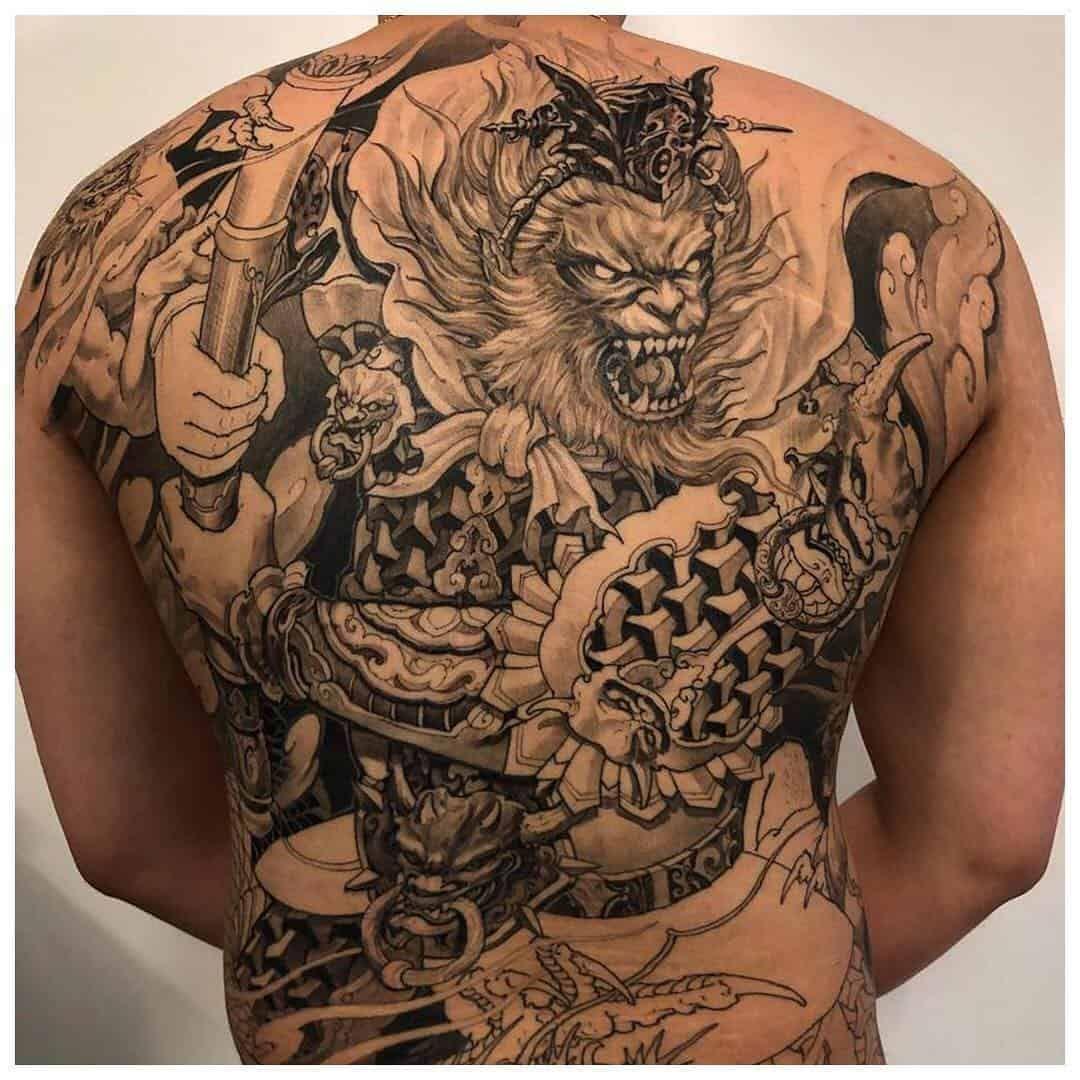 Asian tattoos monkey king tattoo design king tattoos