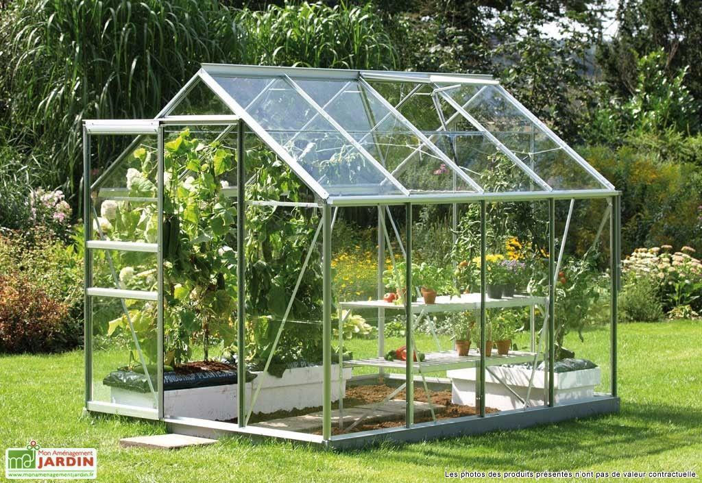 Serre De Jardin En Aluminium Gris Et Verre 3mm 5m Venus 5000 Base Serre Jardin Jardinage En Serre Construire Une Serre