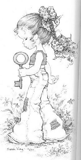 Art Sanalia Bonequinhas Bbf Placas Sarah Kay Coloring
