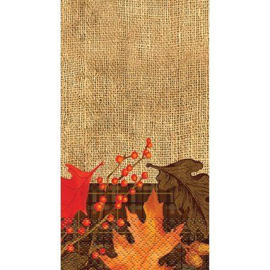 Rustic Autumn Leaves Paper Guest Towels, 16ct