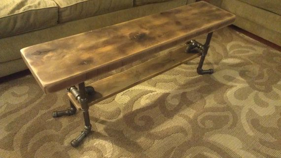 Rustic Alder Bench Coffee Table with by SplintersWoodBoards, $285.00