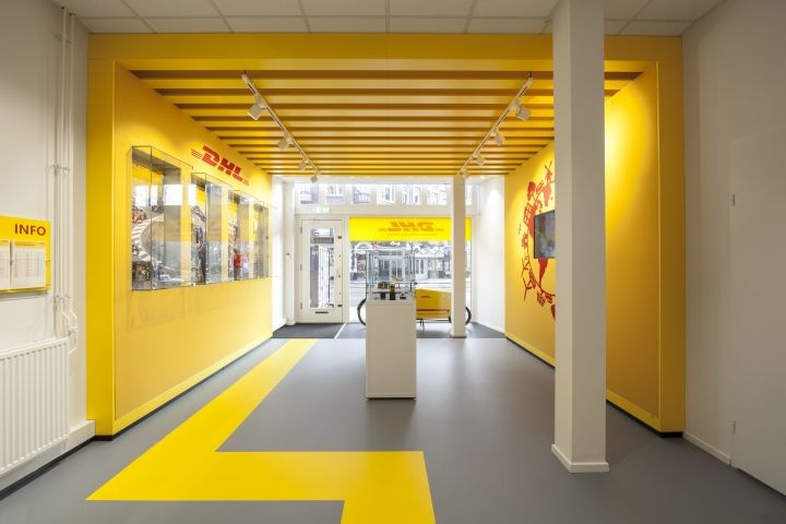 Dhl store by tchai international amsterdam netherlands for Oficinas de dhl
