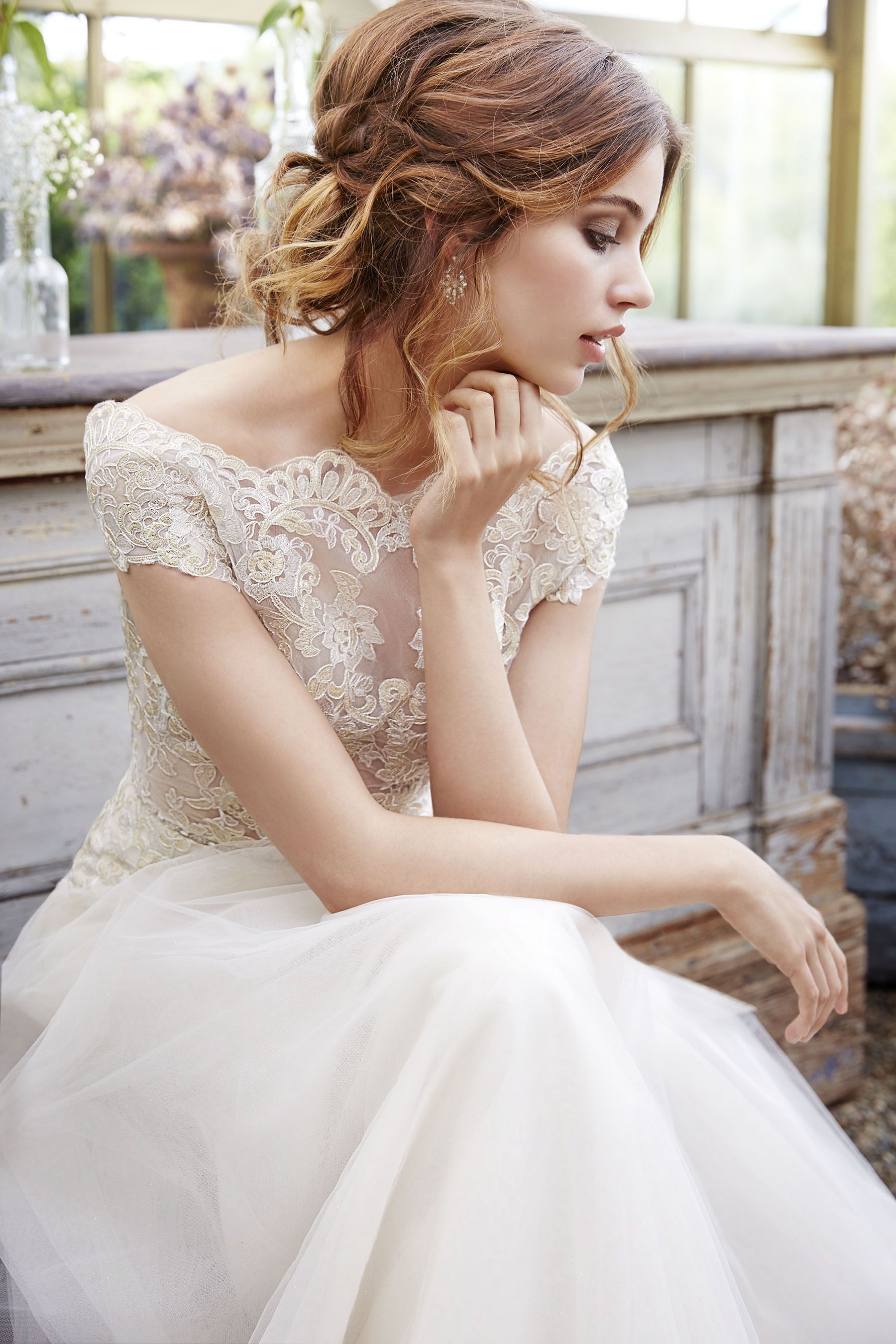 Bridal Gowns, Wedding Dresses by Tara Keely Style 2650 - Ivory Gold ...