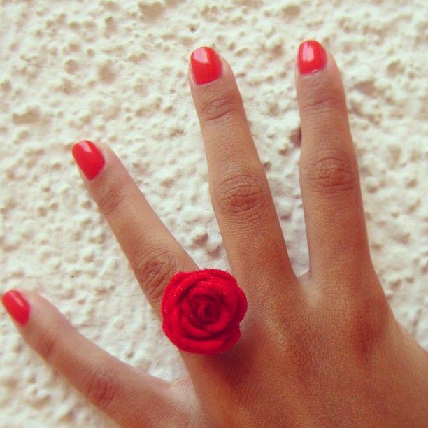 DIY Rose Ring #DoItYourself #DIY