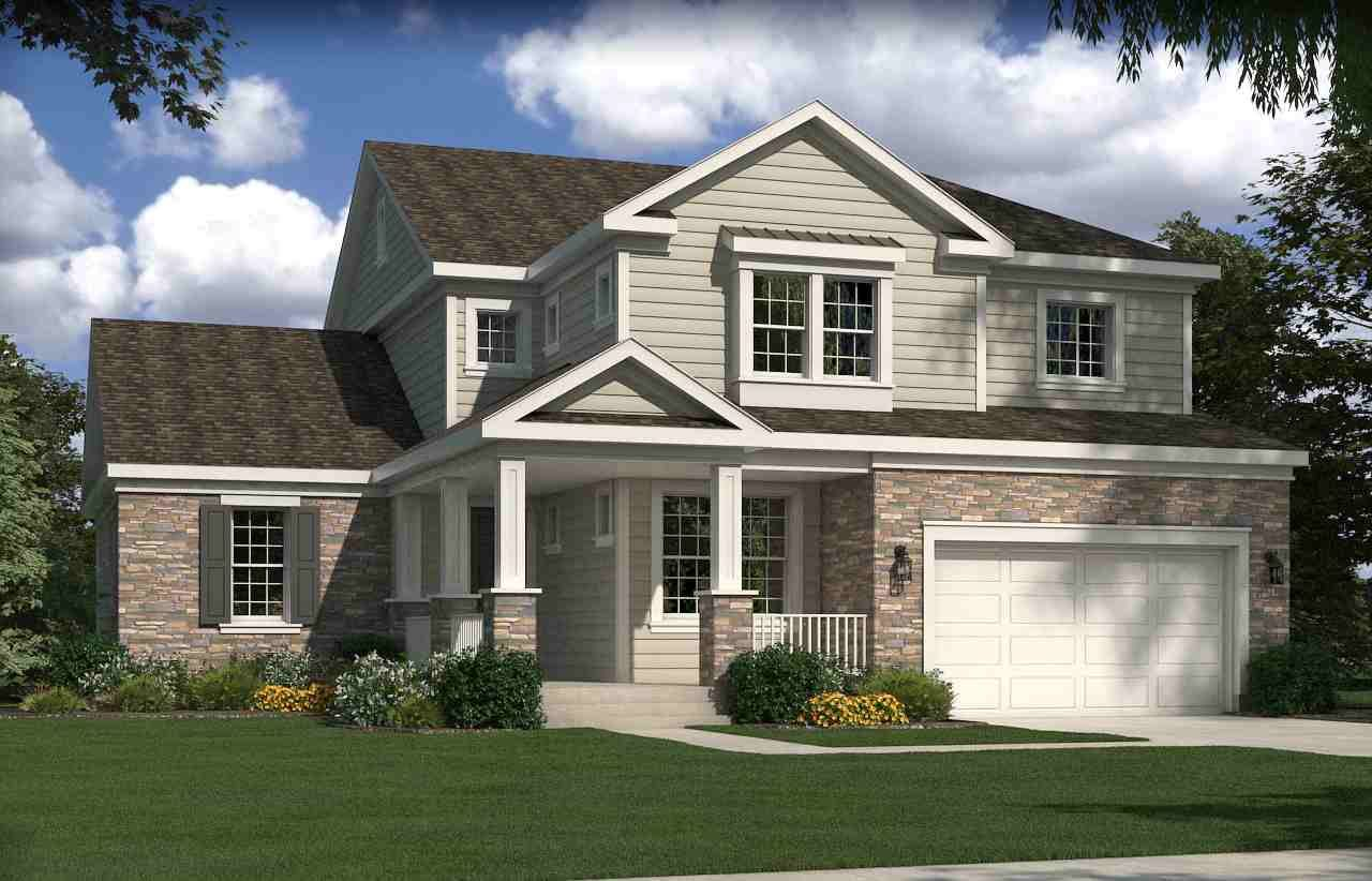 Broadmoor traditional add third car minus the basement for Home designs traditional