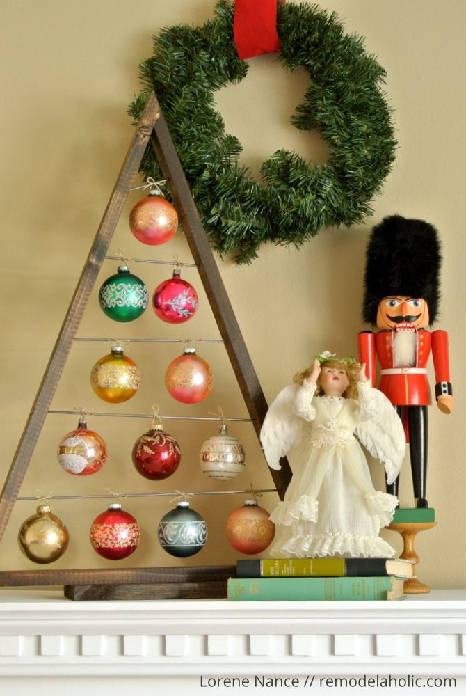 Knockoff the Crate and Barrel wood ornament display tree for a fraction of the price using these free plans! Perfect for vintage and special ornaments.