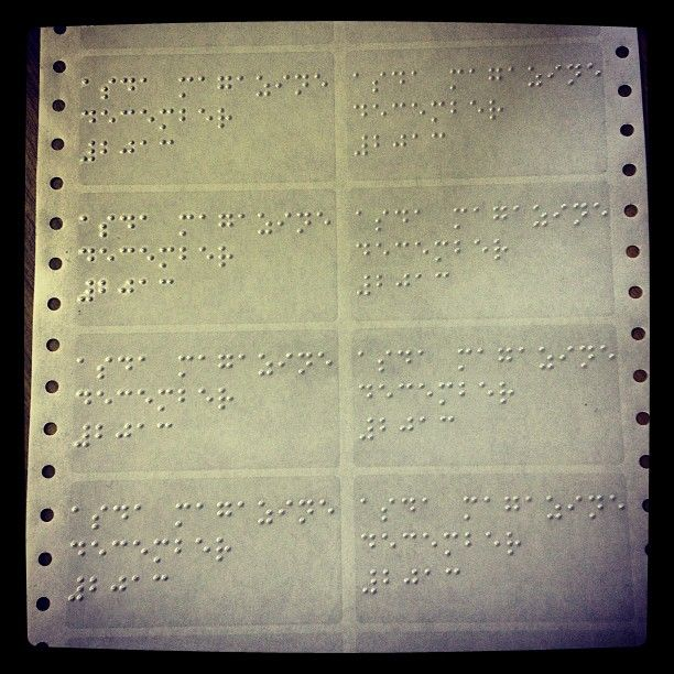 Braille Labels Cool For Business Cards CDs And Much More