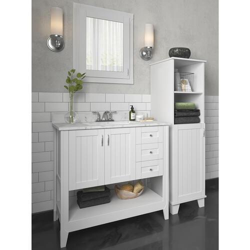 White Vanity Bathroom, Menards Bathroom Storage Cabinets
