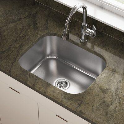 "Mrdirect Stainless Steel 23"" X 18"" Undermount Kitchen Sink Delectable Stainless Kitchen Sinks Inspiration"