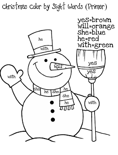 Sight Word Coloring Pages Winter Pics