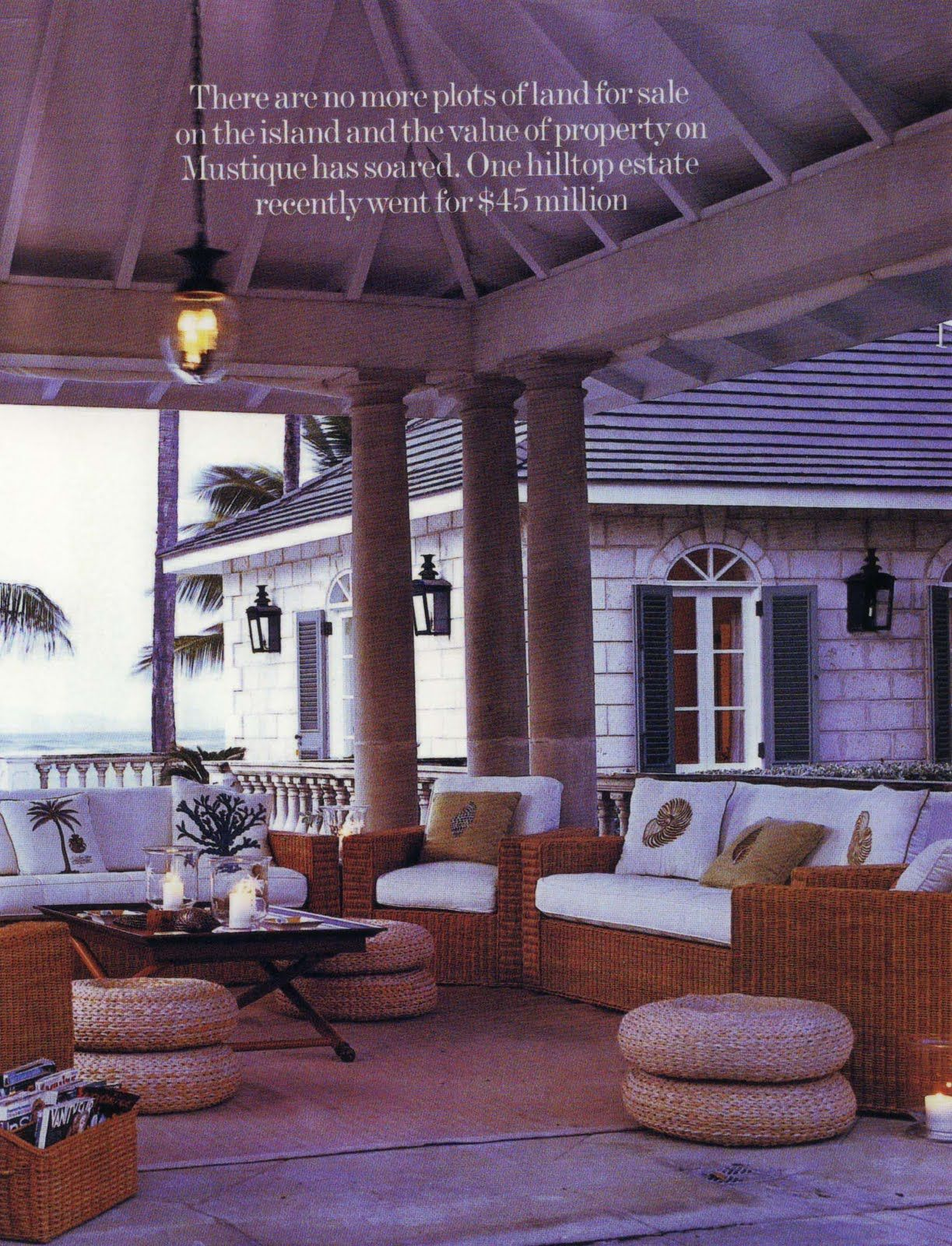 Tommy Hilfigers property, Palm Beach, on Mustique