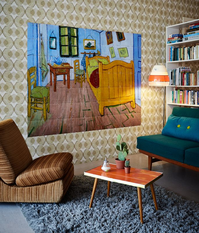 IXXI wall decoration made with Van Gogh\'s painting \'The bedroom ...