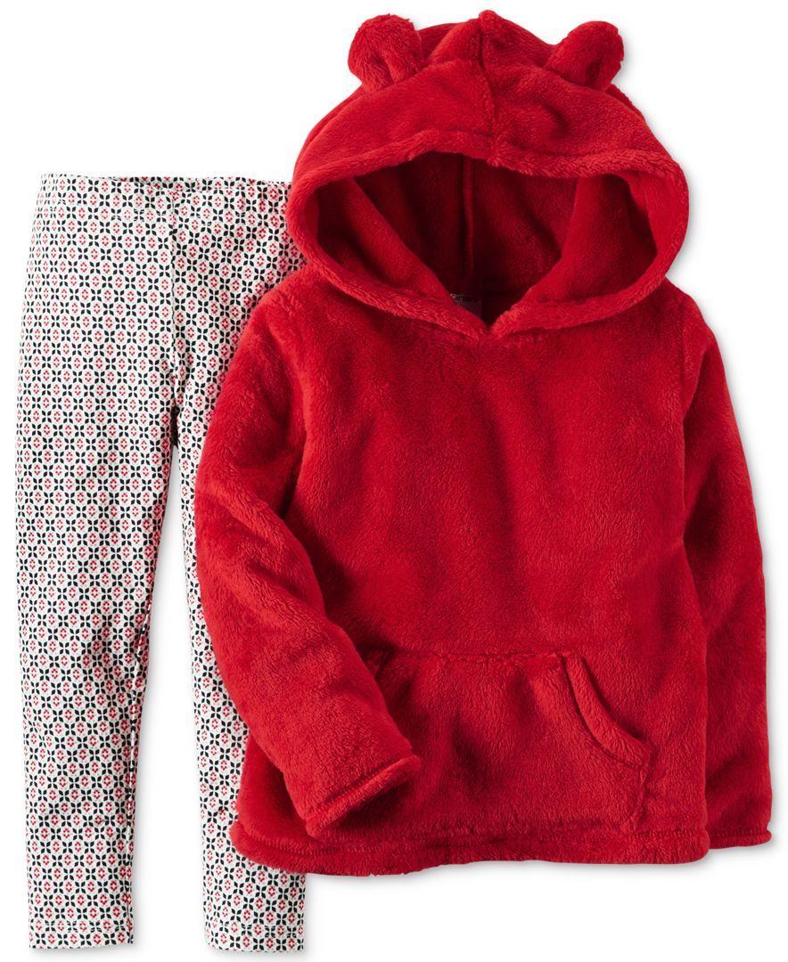 9fa049b7495c3c Carter's 2-Pc. Faux-Fur Hoodie & Leggings Set, Baby Girls (0-24 months)