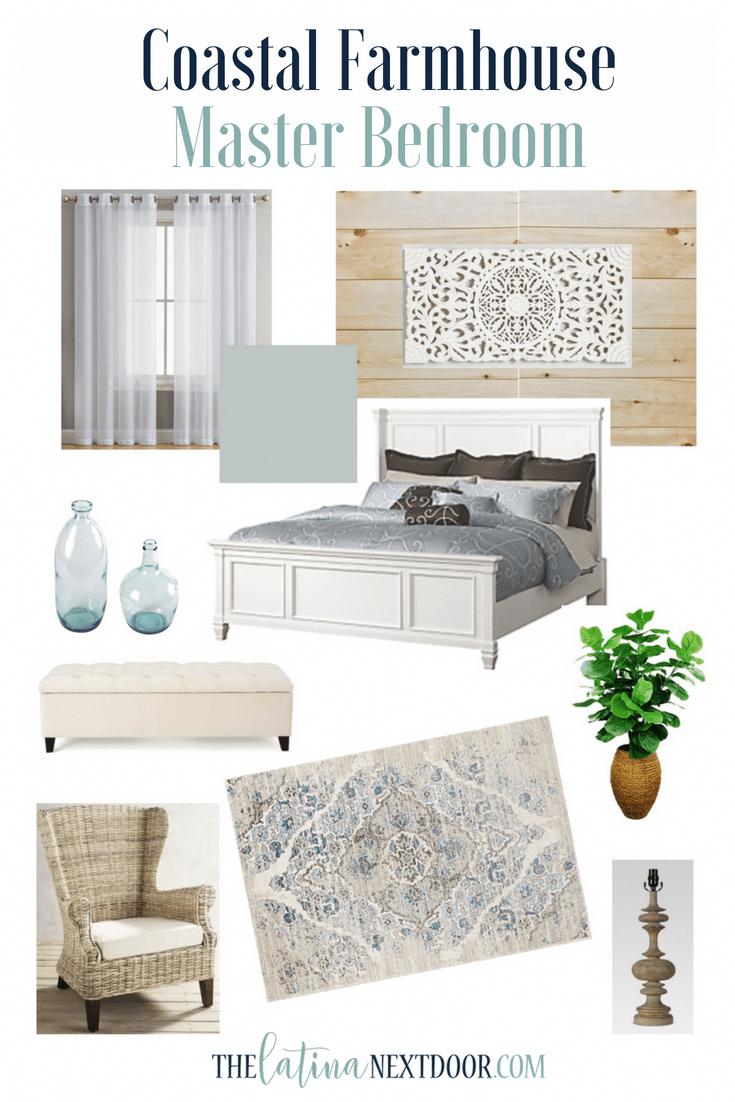 Coastal Farmhouse Master Bedroom in 2020 Coastal master