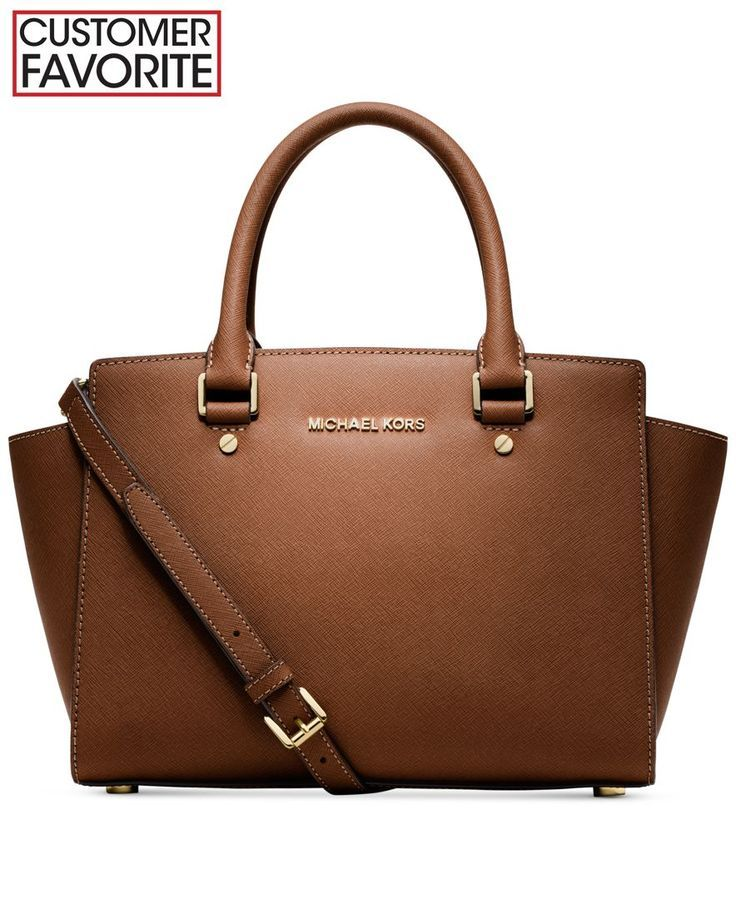 Michael Kors Handbag Selma Medium Satchel Handbags Accessories Macy S Shoulder Brand Women On