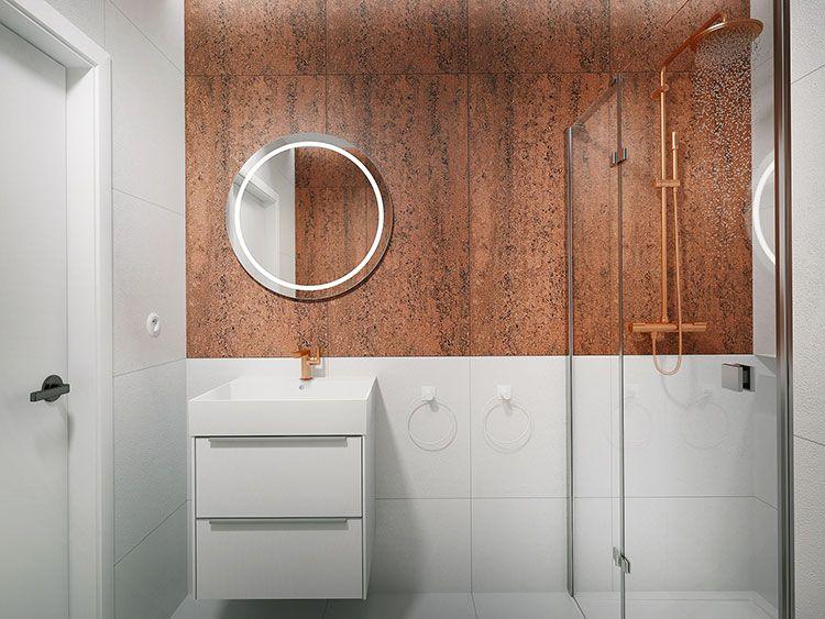 Bagno piccolo con doccia: 50 idee di arredo originali bagno