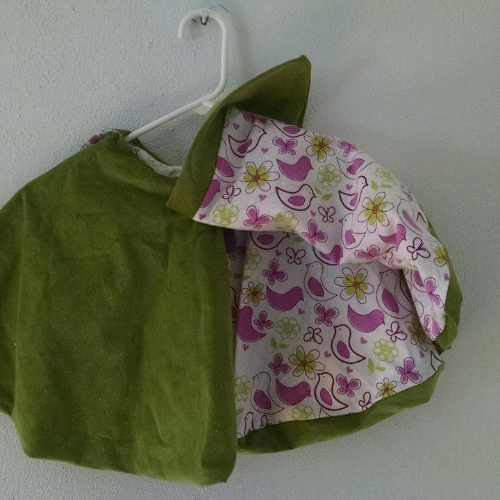 Birds and flowers green and fuchsia cape-embroidered from B's Bounty for $50.00
