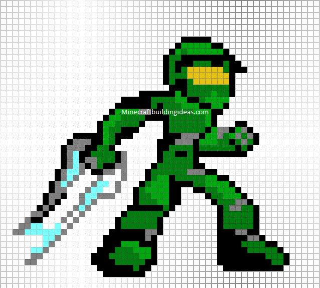 Minecraft Pixel Art Templates Master Chief  Minecraft