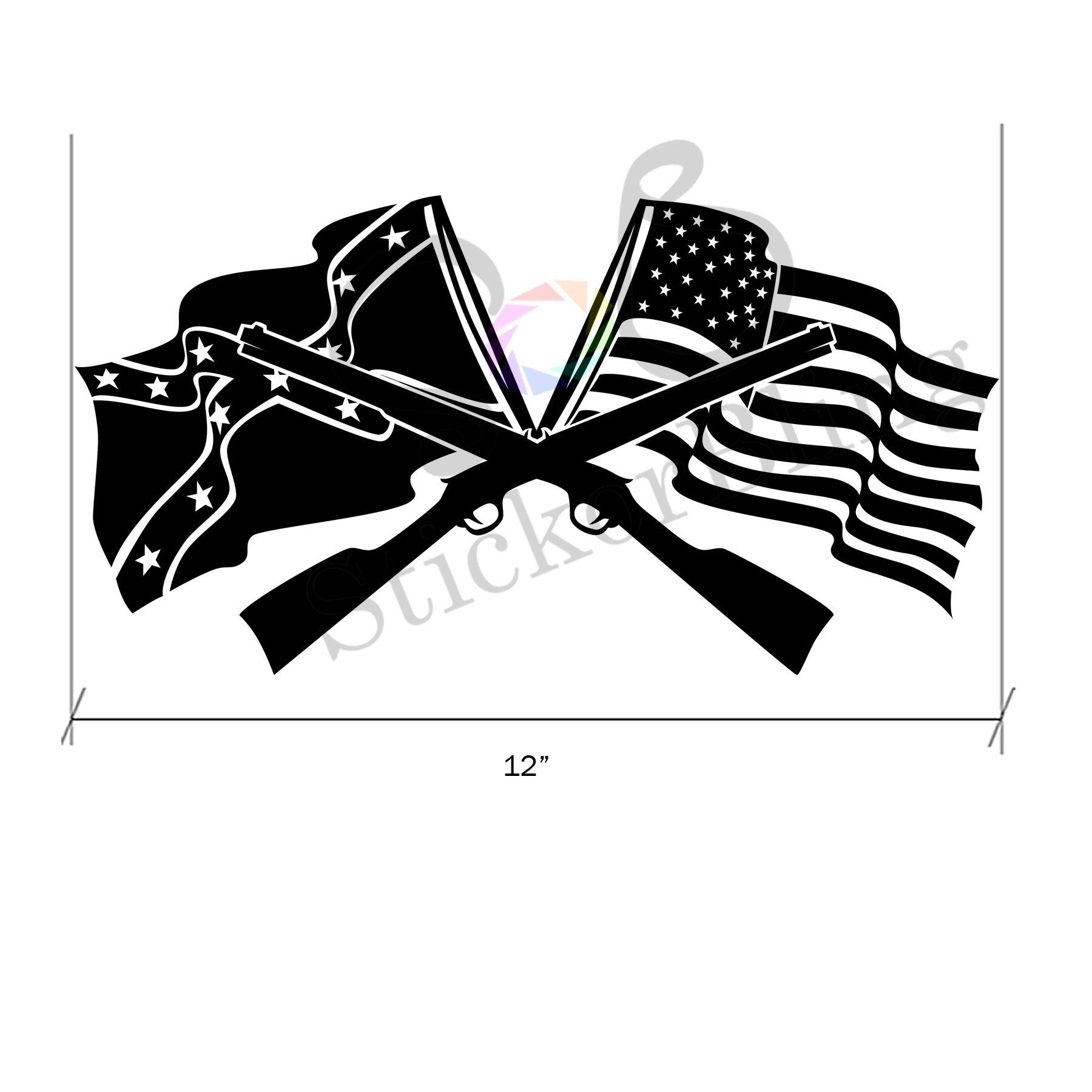 confederate flag american flag gun 12