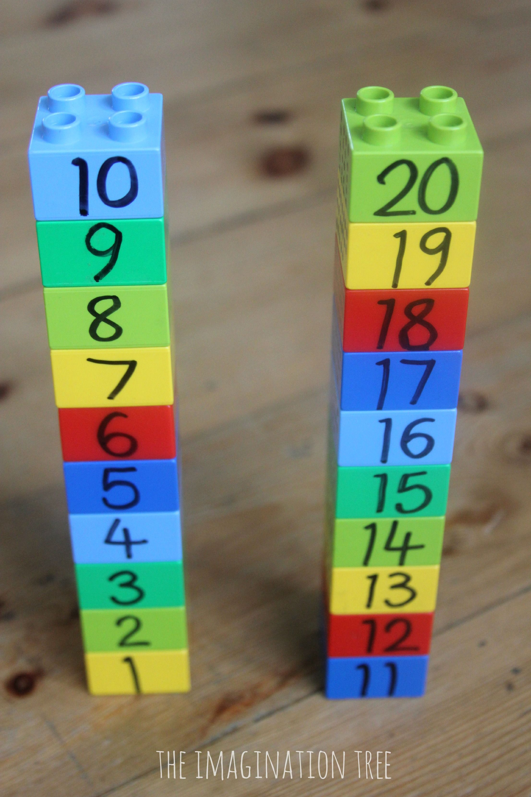 Counting And Measuring With Lego Preschool Maths Game