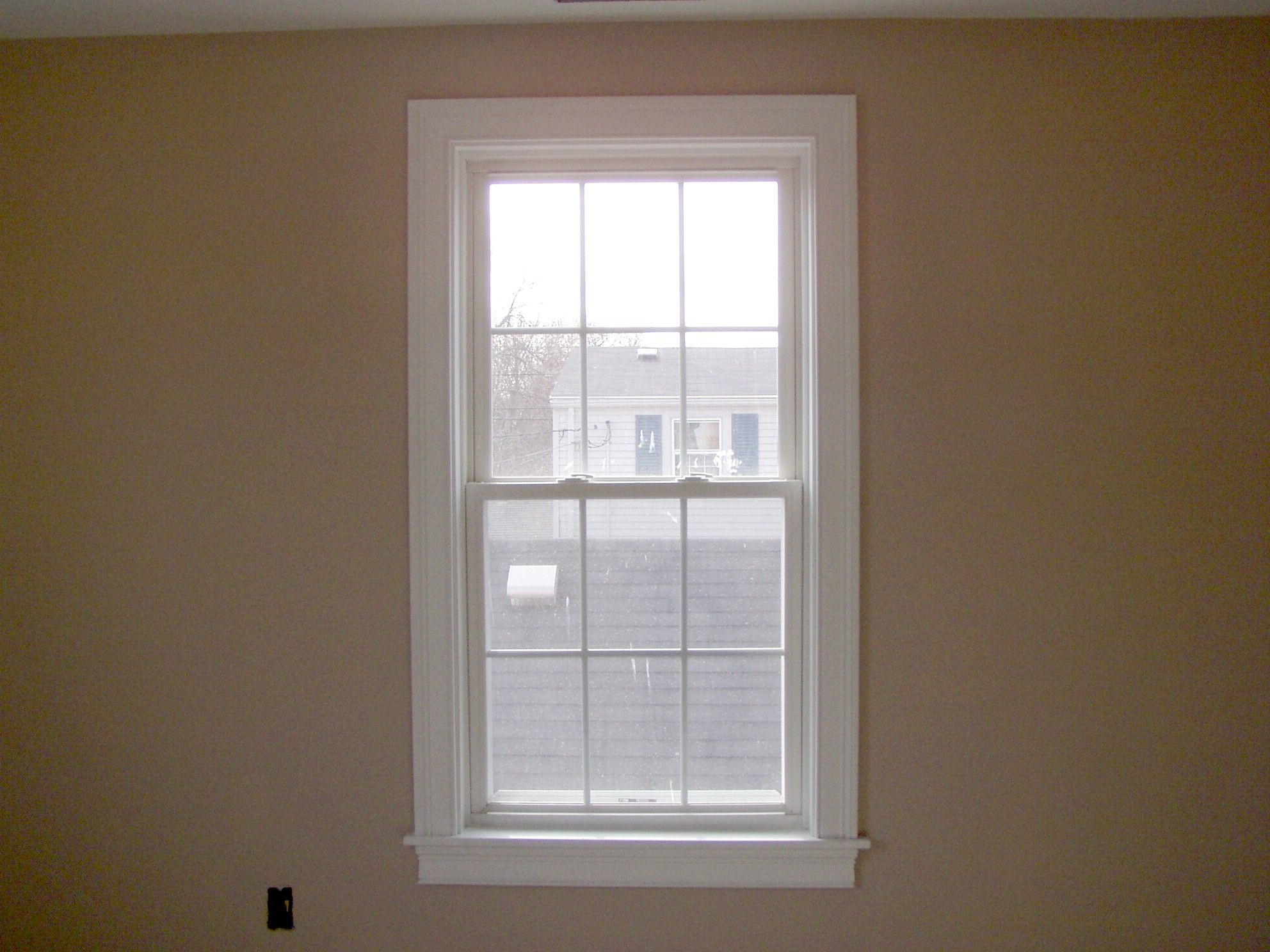 New construction door trim paint and window trim master for Window design interiors