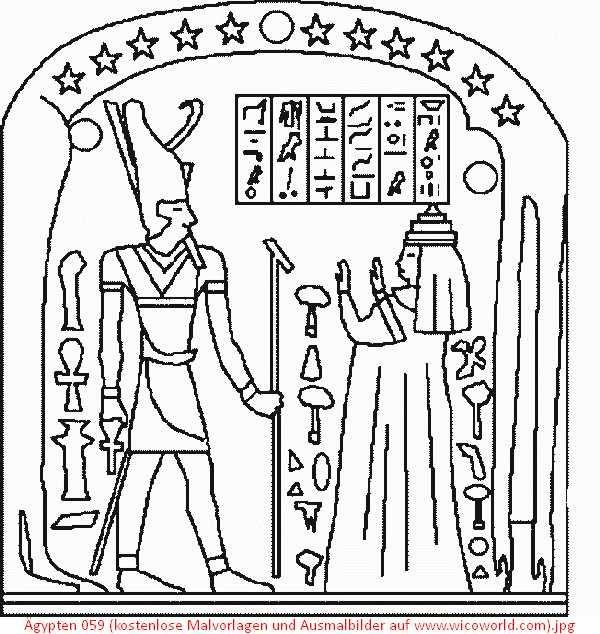 Ägypten 059 kostenlose malvorlagen und ausmalbilder auf