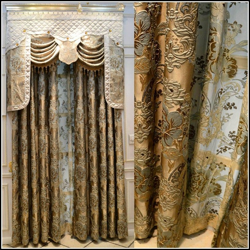 Blue And Gold Kitchen Curtains Curtains Luxury Curtains