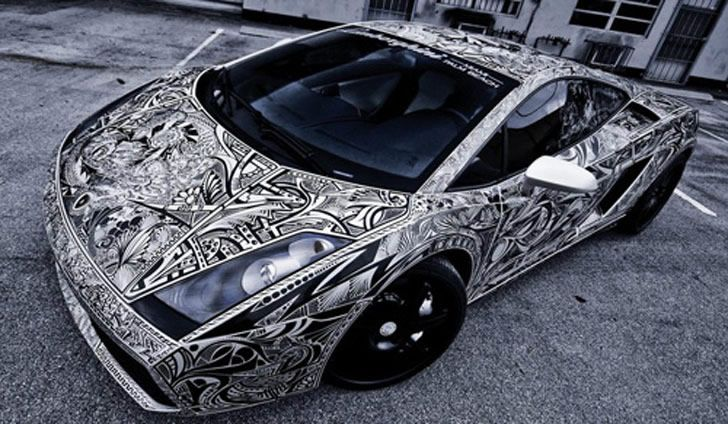 "The ""Sharpie Lamborghini"" Gallardo ..........Graffitist Jona Cerwinske was commissioned to draw all over this white Lamborghini. Although, it is not something you would think of doing, the end result turned out quite stunning! Read about why and how this car became a unique work of art:"