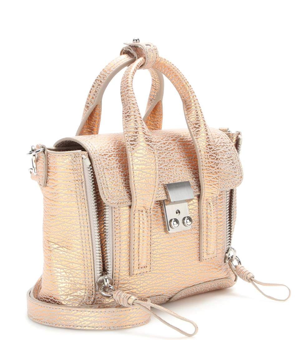 mytheresa.com - Henkeltasche Pashli Mini aus geprägtem Metallic-Leder - Luxury Fashion for Women / Designer clothing, shoes, bags