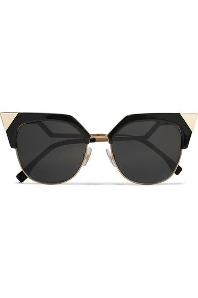 22263b59fcd5 FENDI Iridia cat-eye gold-tone and acetate sunglasses Fendi s coveted   Iridia  sunglasses have been spotted on everyone from Izabel Goulart to  Chiara ...
