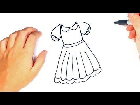 17 Como Dibujar Un Vestido Paso A Paso Dibujo Facil De Vestido Youtube En 2020 Como Dibujar Vestidos Como Dibujar Dibujo Facil