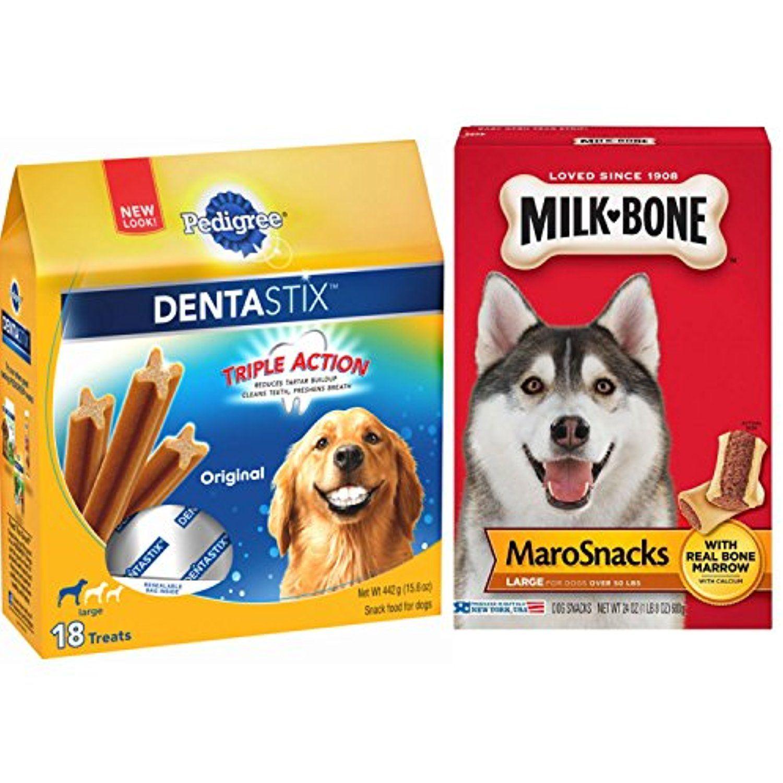 Large Dog Milk Bone Marrow Treats Bundle Featuring Pedigree