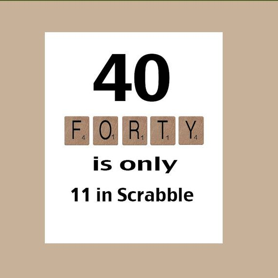 40th birthday card 40 birthday milestone birthday the big 40 40th birthday card 40th birthday milestone birthday the big 40 scrabble card bookmarktalkfo Choice Image
