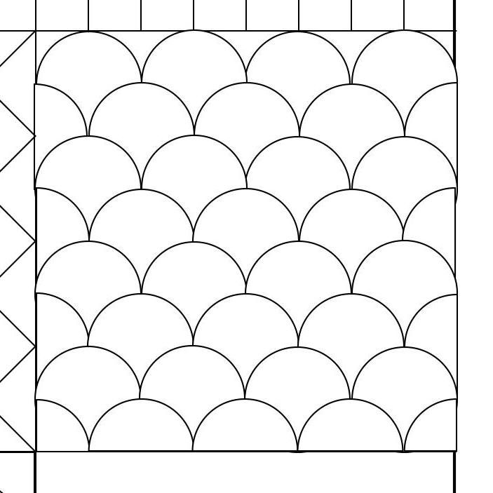 Quilting Creations Clam Shell Background Quilt Stencil