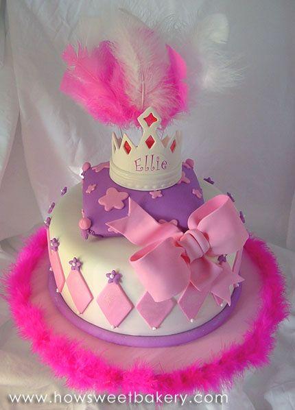 Peachy Love This Girly Birthday Cake I Think I Will Use The Idea For Personalised Birthday Cards Xaembasilily Jamesorg