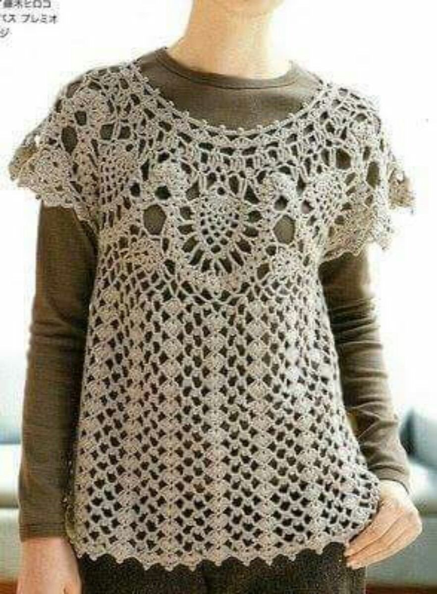 Hermosas Blusas Tejidas A Mano Crochet Title Car Pictures Como