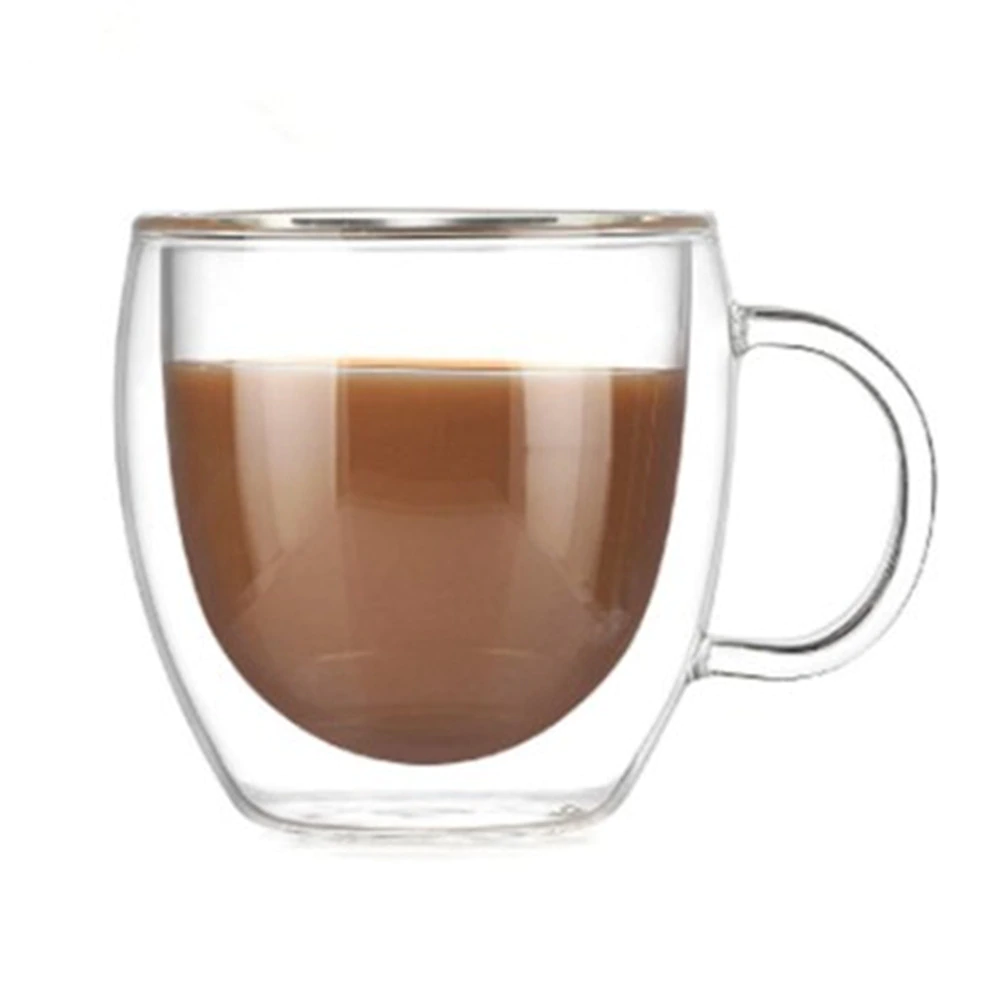 Double Coffee Mugs With the Handle Mugs Drinking
