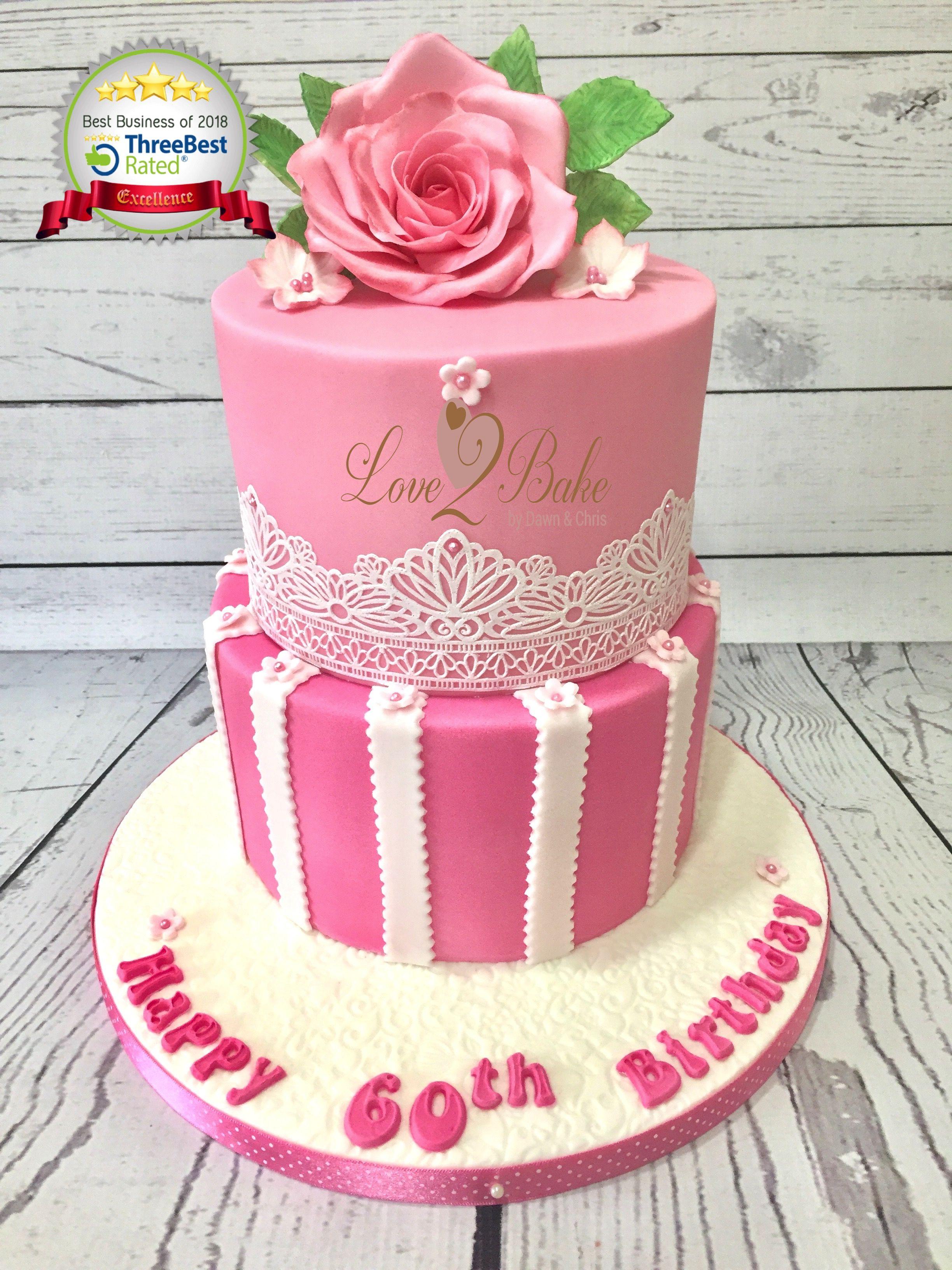 Pink Flower Cake By Love2bake Feb 2018 Love2bake Cakes