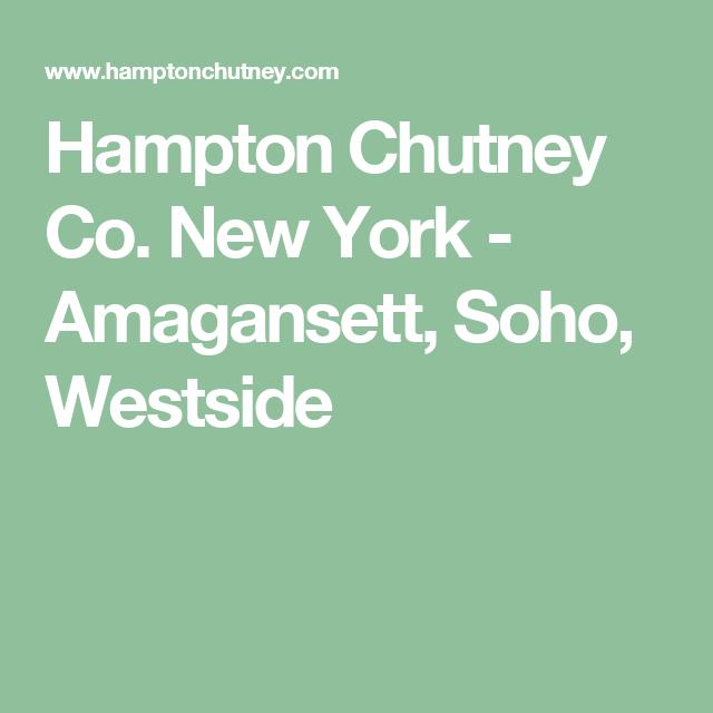 HAMPTON CHUTNEY COMPANY