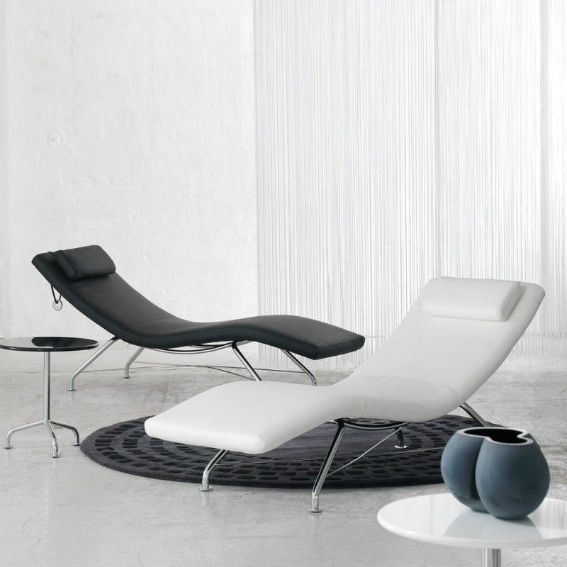 Black And White Sleek Lounge Chair Of Lounge Chair For Longer Rest And Longer T Modern Furniture Chairs Lounge Chairs Living Room Stylish Living Room Furniture