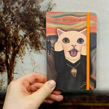 Pocket Notebook Mix Lined Blank Journal Elastic Band - Scream Humorous Parody