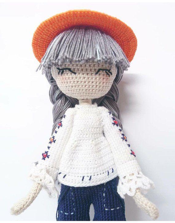 Eliette - Crochet doll pattern en 2018 | en yines amigurumis casita ...