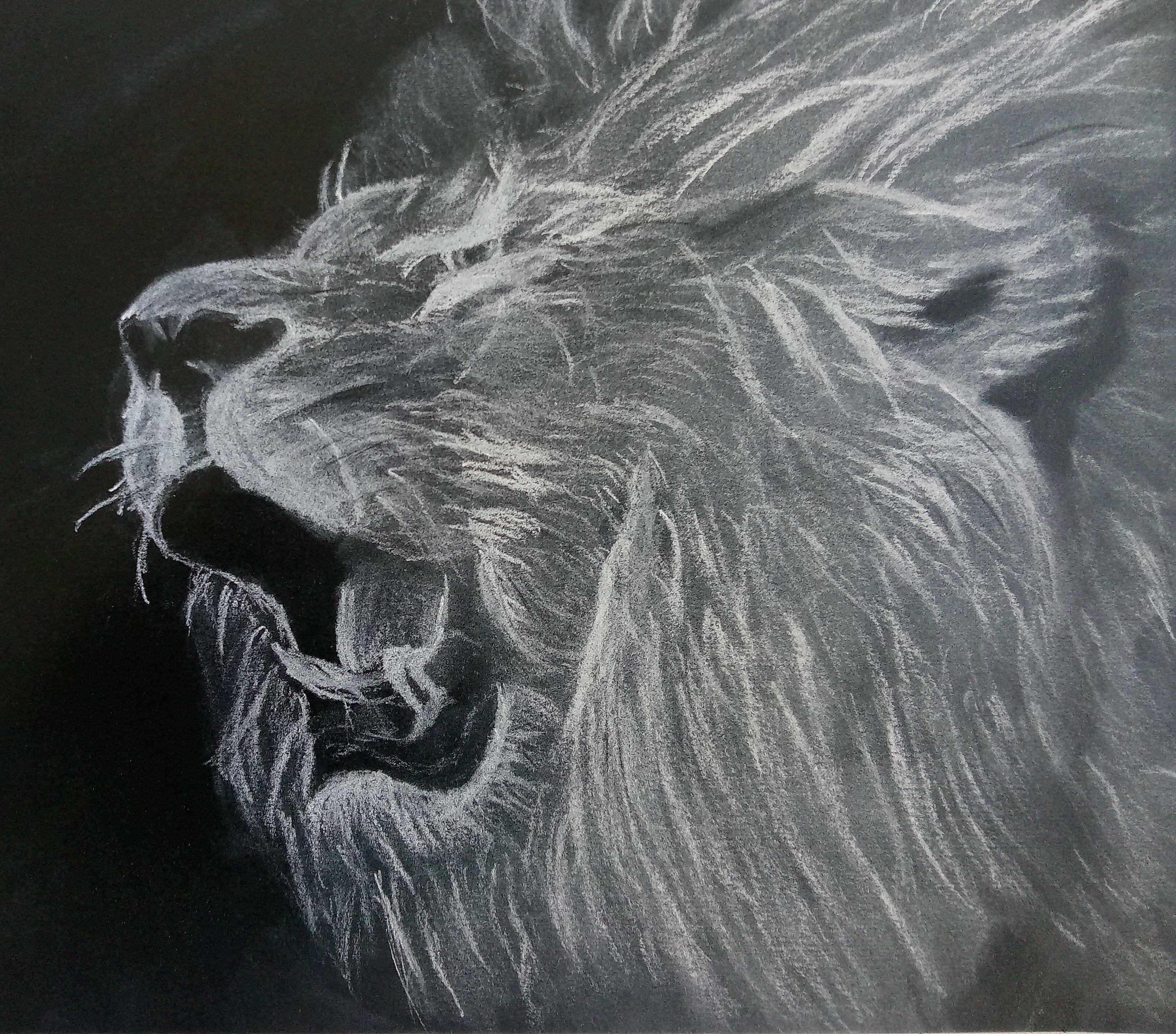 Pasztell rajzok - hogy mit nem lehet alkotni egy darab fekete lappal és egy  fehér pasztell 32c0a1ed01