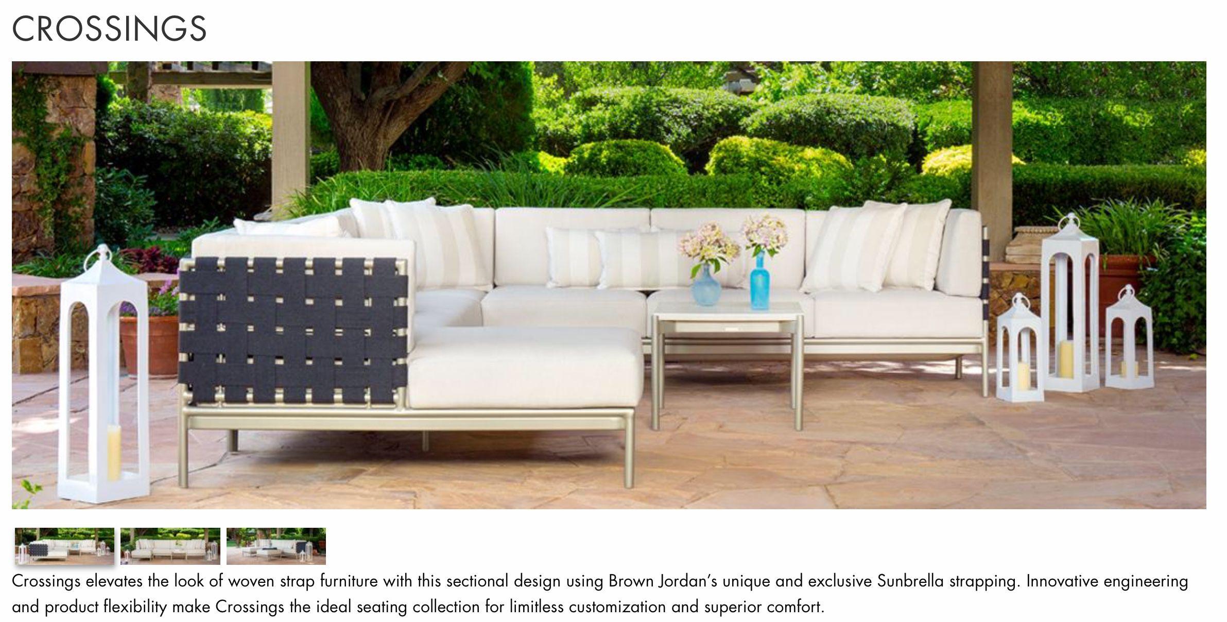Crossing Sectional Deep Seating Brown Jordan Outdoor Sofa Furniture Sets Jordans