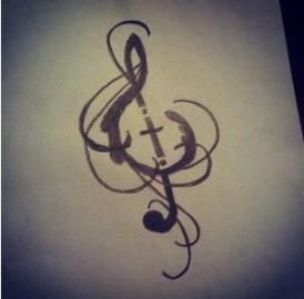 31+ Ideas For Tattoo Christian Music Treble Clef